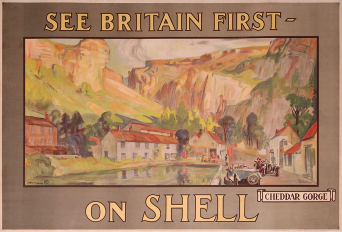 En vente :  SHELL  SEE BRITAIN FIRST ON SHELL CHEDDAR GORGE