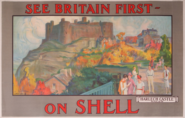 En vente :  SHELL SEE BRITAIN FIRST ON SHELL HARLECH CASTLE WALES  - Tennis