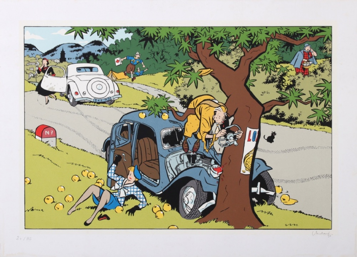 En vente :  YVES CHALAND - L'ACCIDENT DE LA ROUTE NATIONALE 7