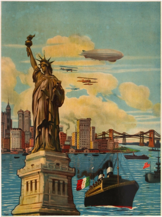 En vente :  NEW YORK STATUE OF LIBERTY DIRIGEABLE ZEPPELIN