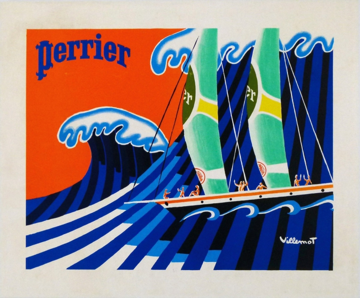 En vente :  PERRIER - SURFS THE WAVE