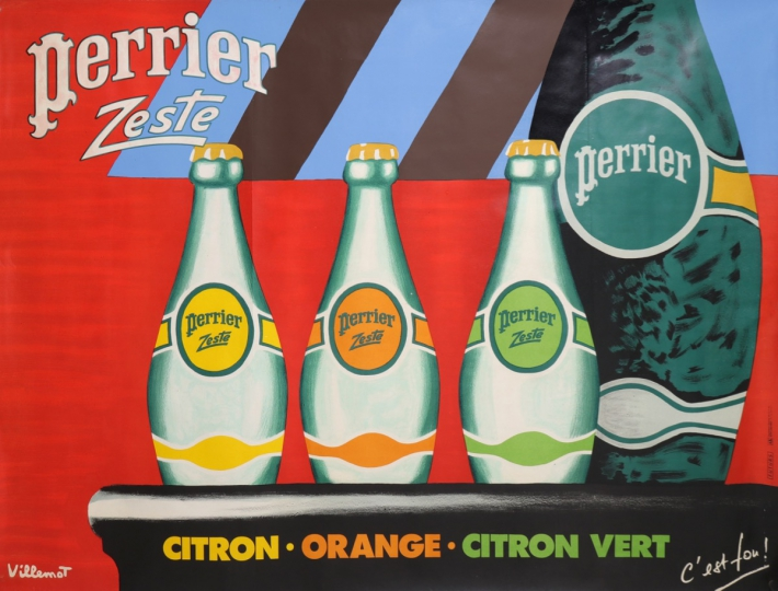 En vente :  PERRIER ZESTE   CITRON ORANGE CITRON-VERT