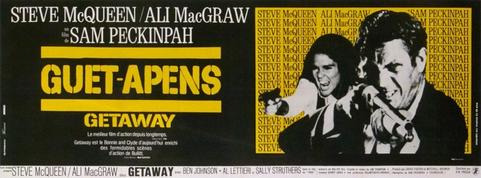 En vente :  FILM GUET-APENS  GETAWAY SAM PECKINPAH STEEVE MC QUEEN ALI MAC GRAW