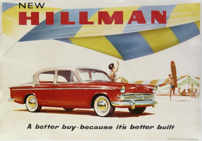 En vente :  NEW HILLMAN  a Better buy-necause it's better Built