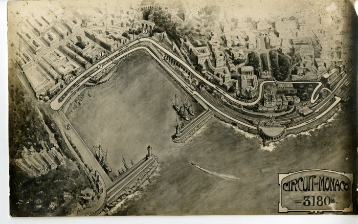 photographies 1932 grand prix monaco vue aerienne du circuit de monaco 3km180 anonym. Black Bedroom Furniture Sets. Home Design Ideas