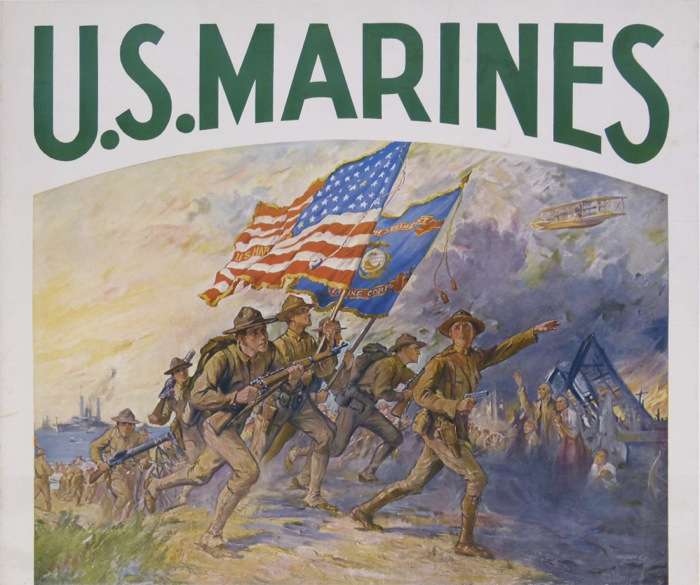En vente :  US MARINES-FIRST TO FIGHT IN FRANCE FOR FREEDOM ENLIST WITH SOLDIERS OF THE SEA