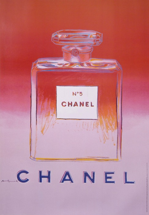 En vente :  ANDY WARHOL CHANEL No 5  RED AND PINK - ROUGE ET ROSE