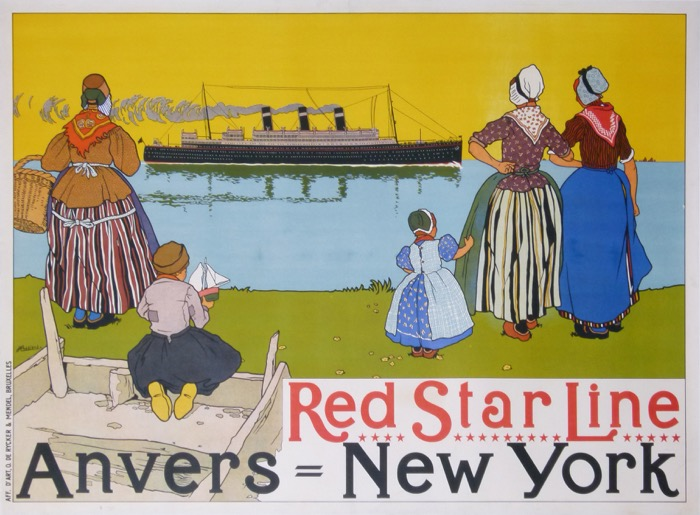 En vente :  RED STAR LINE ANVERS - NEW YORK
