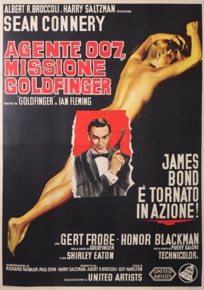 En vente :  JAMES BOND MISSIONE GOLDFINGER AGENTE 007 SEAN CONNERY  ITALIAN VERSION