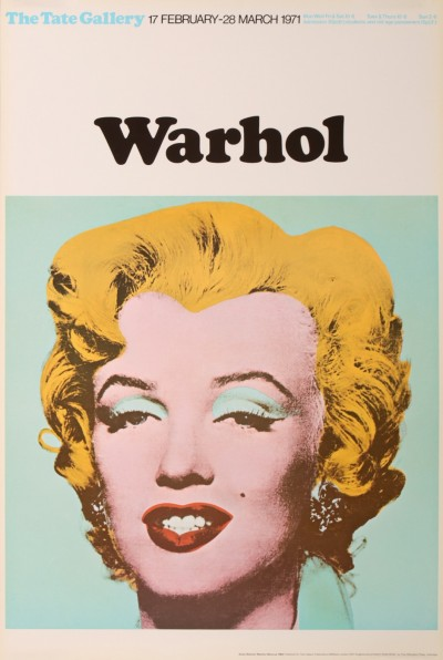 En vente :  ANDY WARHOL MARILYN MONROE EXPOSITION 1971 THE TATE GALERIE