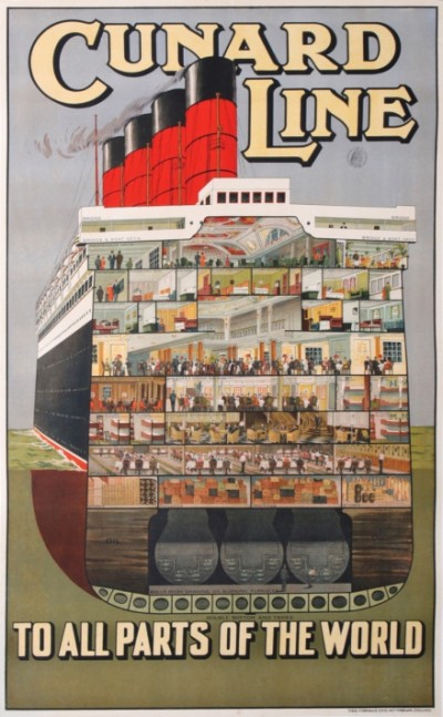 En vente :  CUNARD LINE TO ALL PARTS OF THE WORLD