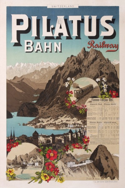 En vente :  PILATUS BAHN -RAILWAY- SWITZERLAND by the ART INSTITUT
