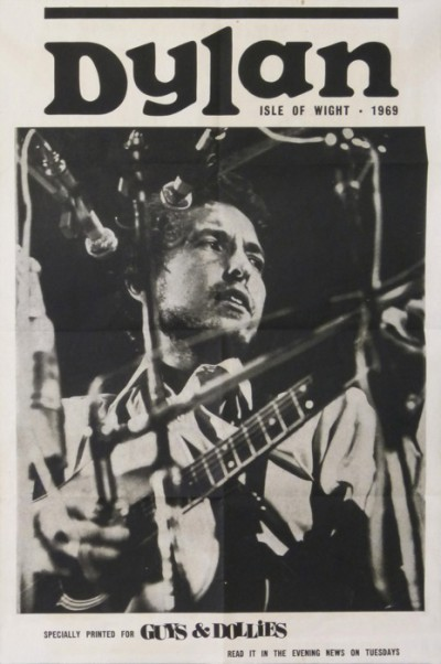 En vente :  BOB DYLAN ISLE OF WIGHT 31 AUGUST 1969 READ IT IN THE EVENING  NEWS ON TUESDAYS