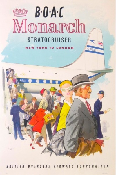 En vente :  GOF    BOAC MONARCH STRATOCRUISER NEW YORK TO LONDON