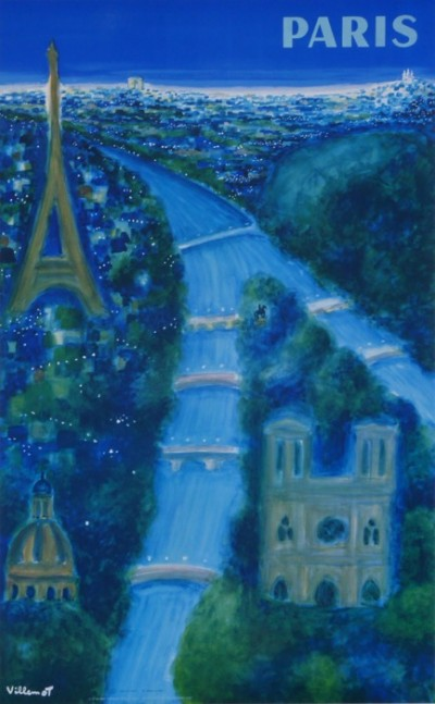 En vente :  VILLEMOT AIR FRANCE PARIS - LA TOUR EIFFEL - NOTRE DAME