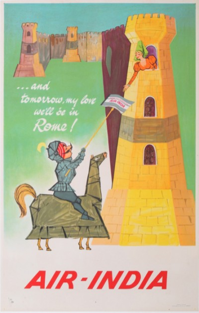 En vente :  AIR INDIA - AND TOMORROW MY LOVE WE'LL BE IN ROME
