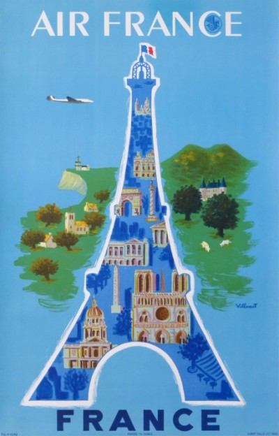 En vente :  AIR FRANCE PARIS LA TOUR EIFFEL