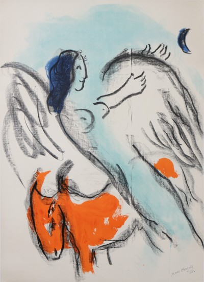 En vente :  EXPOSITION CHAGALL ANGE 1956 KUNSTHALLE BERN