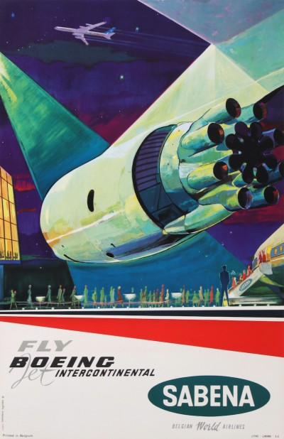 En vente :  FLY BOEING JET INTERCONTINENTAL SABENA BELGIAN WORLD AIRLINES BELGIQUE