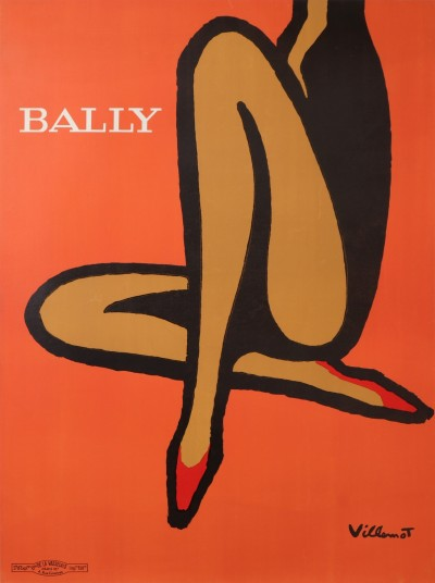 En vente :  VILLEMOT BALLY ORANGE GRAND MODÈLE-BIG SIZE