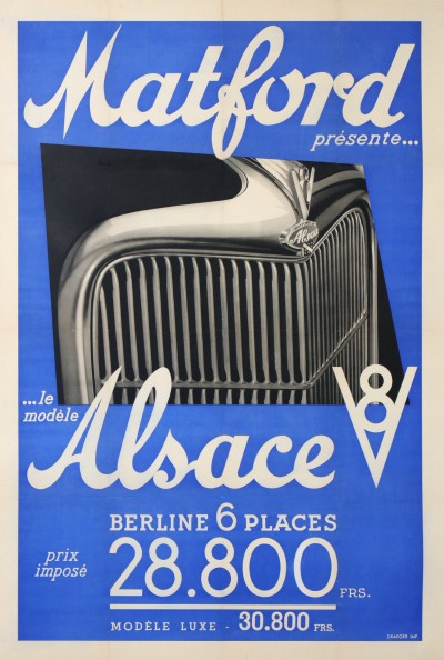 En vente :  MATFORD ALSACE V8 BERLINE 6 PLACES