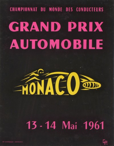 En vente :  GRAND PRIX AUTOMOBILE MONACO 1961