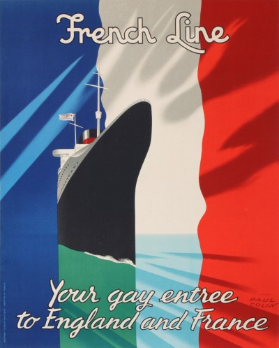 En vente :  FRENCH LINE COMPAGNIE GENERALE TRANSATLANTIQUE  YOUR GAY ENTREE TO ENGLAND AND F