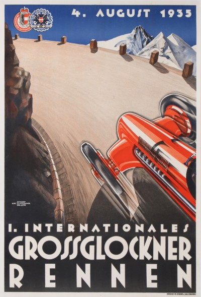 En vente :  1er INTERNATIONALES GROSSGLOCKNER RENNEN  4 AUGUST 1935 ALFA ROMEO P3