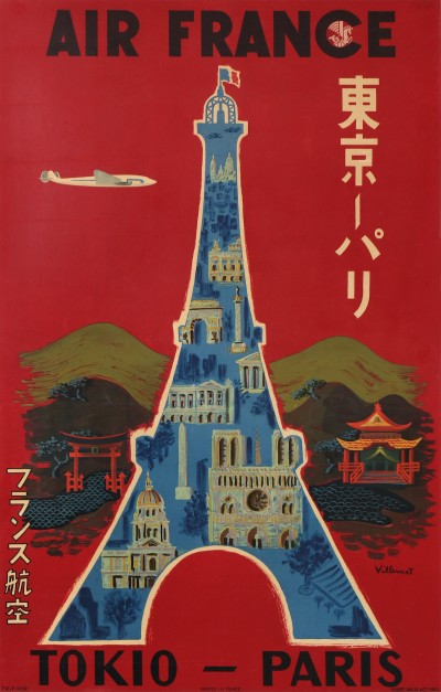 En vente :  AIR FRANCE TOKIO PARIS JAPON