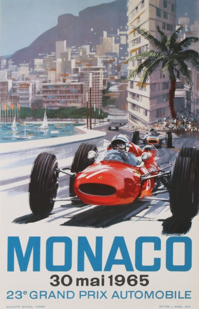 En vente :  GRAND PRIX AUTOMOBILE MONACO 1965