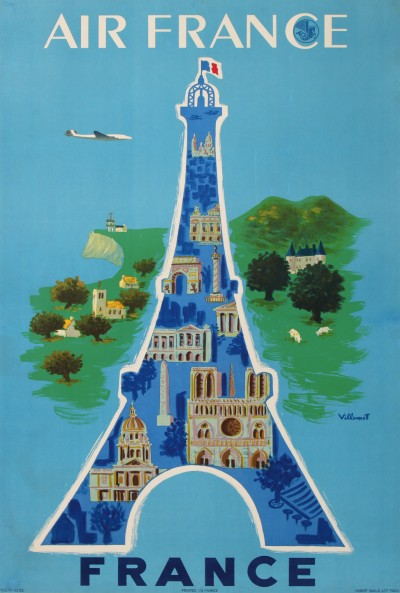 En vente :  AIR FRANCE PARIS - FRANCE - LA TOUR EIFFEL, NOTRE DAME, LES INVALIDES ...