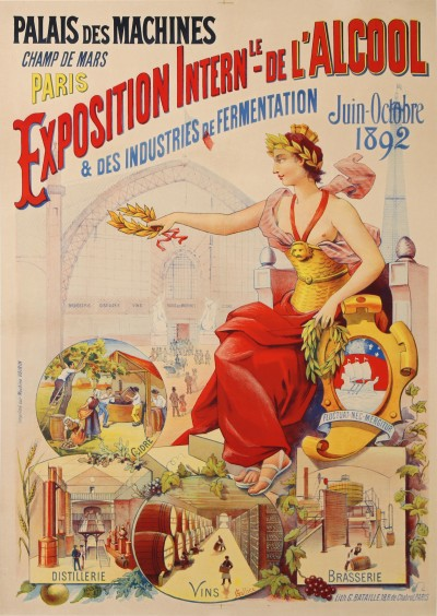 En vente :  EXPOSITION INTERNATIONALE 1892 DE L'ALCOOL ET DES INDUSTRIES DE FERMENTATION