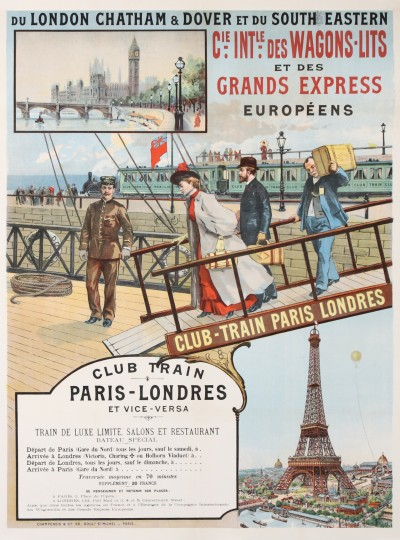 En vente :  Cie INTERNATIONALE DES WAGONS LITS ET DES GRANDS EXPRESS CLUB - TRAIN PARIS LOND