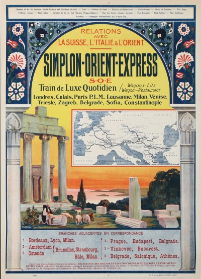 En vente :  SIMPLON-ORIENT-EXPRESS CIE INTERNATIONALE DES WAGONS LITS TRAINS LUXE QUOTIDIEN