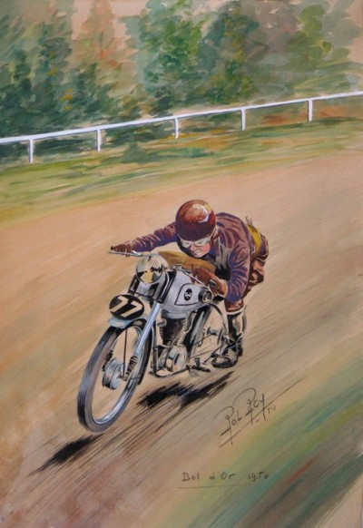 En vente :  BOL D'OR 1950 AQUARELLE ORIGINALE