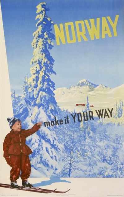 En vente :  NORWAY MAKE IT YOUR WAY for the Ski