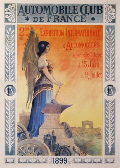 En vente :  AUTOMOBILE CLUB DE FRANCE EXPOSITION INTERNATIONALE 1899 D AUTOMOBILES TUILERIES