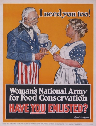 En vente :  I NEED YOU TOO ! WOMAN S NATIONAL ARMY FOR FOOD CONSERVATION-HAVE YOU ENLISTED ?