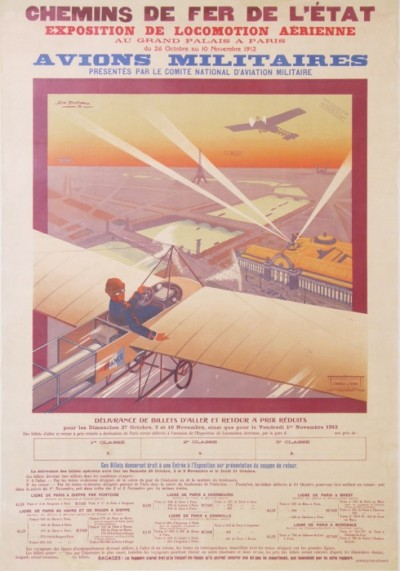 En vente :  GRAND PALAIS EXPOSITION DE LOCOMOTION AERIENNE 1912  AVION MILITAIRES