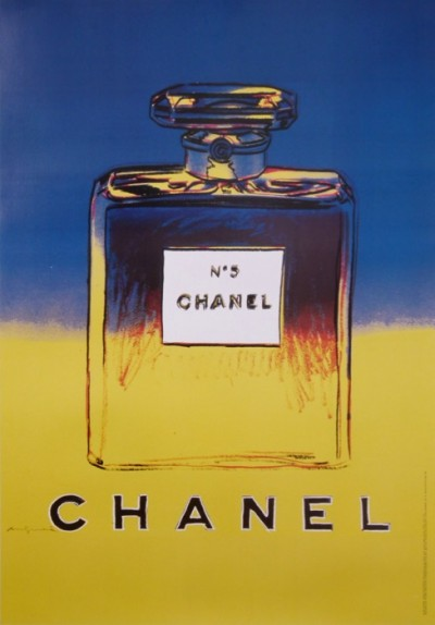 En vente :  ANDY WARHOL CHANEL No 5  BLUE AND YELLOW  BLEU ET JAUNE